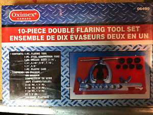 NEW 10-PIECE DOUBLE FLARING TOOL SET