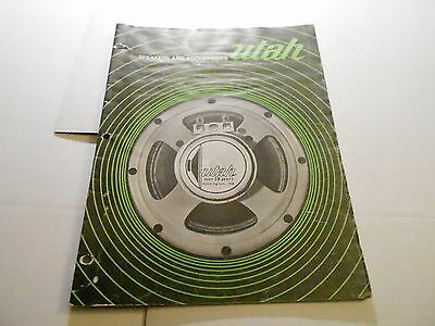 VINTAGE MUSICAL INSTRUMENT CATALOG #10234 - 1973 UTAH SPEAKERS & ACCESSORIES