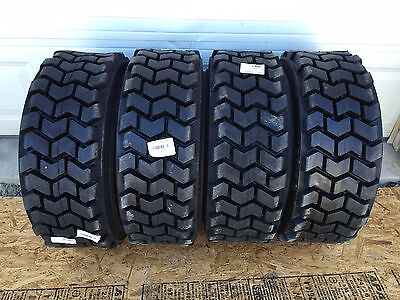 4 Hd 10-16.5 Skid Steer Tires 10x16.5 Solideal Skz Lifemaster- Fits Bobcat
