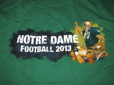 Notre Dame Fighting Irish Football 2013 T Shirt Sz 2XL NCAA South Bend Alumni (Notre Dame Football South Bend)