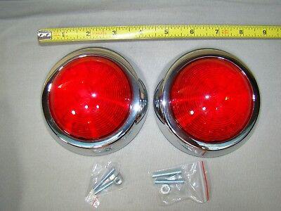 50 pontiac tail lights flush mount LED tail light teardrop trailer tail lights