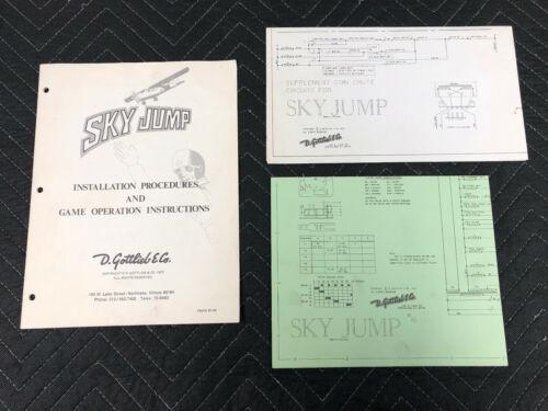 Gottlieb Sky Jump Pinball Installation Manual Schematics Manuals FREE SHIP