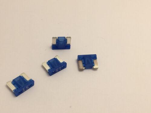 4 X 15 Amp Micro fuse Low profile blue 15A ATM Micro Blade