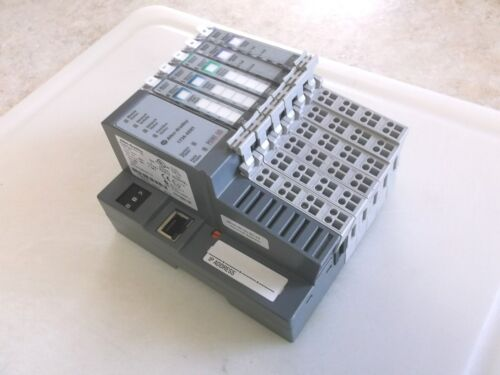 Allen Bradley 1734-AENT EtherNet IP Module Series A w/ 5 Modules