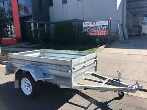 7x4 HEAVY DUTY HIGH SIDES BOX TRAILER GALVANISED Cardiff Lake Macquarie Area Preview