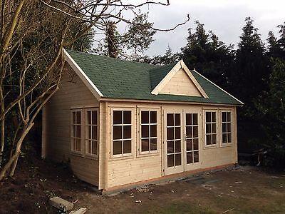 PELE 3 LOG CABIN - 5.5m x 4m - 44mm - Summer House, Garden Building,