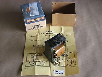 Nib Thordarson 23v61 Selenium Rectifier Transformer Pri. 117v Sec. 12-29.3v