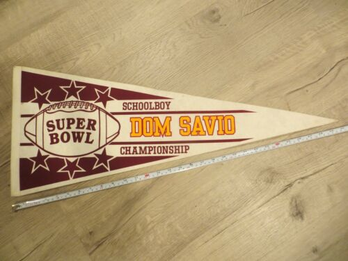 Dom Savio East Boston Massachusetts High School Mass MA Felt Pennant Flag Banner