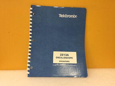Tektronix 070-4734-00 2213a Oscilloscope Operators Instruction Manual