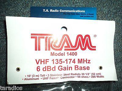 Tram 1400 VHF 2 METER BASE STATION  ANTENNA Radios HAM MURS Marine 136 - 174 Mhz