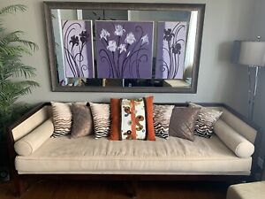 Day bed  and art/mirror
