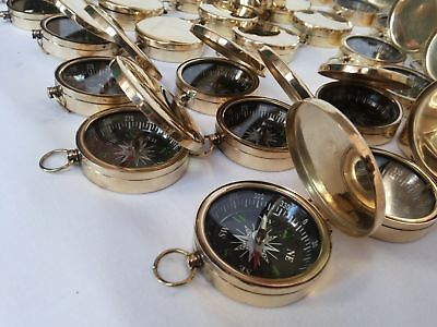 Vintage Pocket Compass 45mm Lot Of 10 Pcs Maritime Collectible Decorative