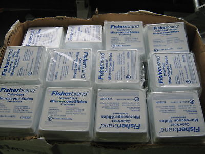 Asst.lot Of 96 Fisherbrand Microscope Slides Precleaned
