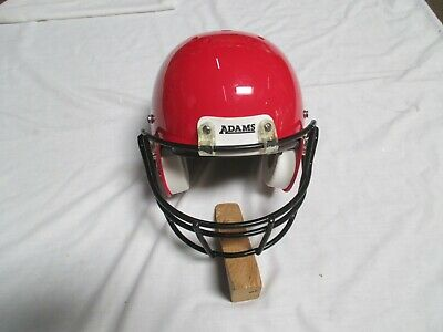 ADAMS Y4 ELITE YOUTH FOOTBALL HELMET - VAR.  SIZES- RED WITH BLACK FACE -