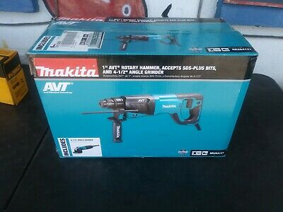 Makita - Sds-plus Avt Rotary Hammer With Case 4-12 Angle Grinder - Hr2641x1