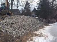 Excavating grading trenching septic system backhoe driveway
