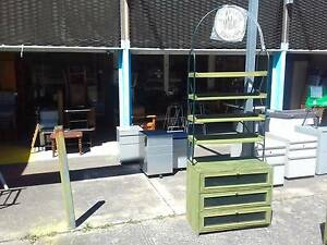 3 DRAWER TIMBER & MESH CABINET+4 TIER BOOKSHELF SHELVES LEVEL Cartwright Liverpool Area Preview