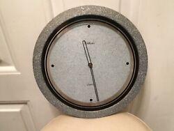 Kitchen Wall Clock Waltham Quartz Home Decor Modern Grey Trim WORKS / SHIPS FREE