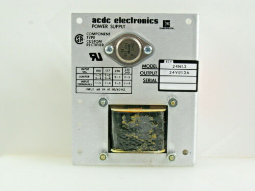 ONE! ACDC Electronics 24N 1.2 24VDC 1.2A LINEAR POWER SUPPLY