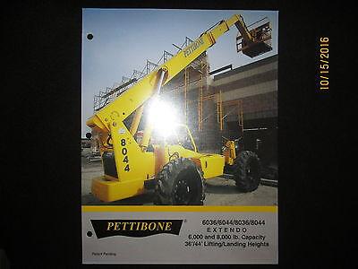 Pettibone Extendo 6036604480368044 Fork Lift Loader Tractor Sales Brochure