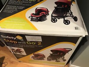 Selling safety 1st step and go stroller and car seat
