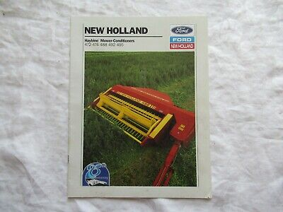1990 Ford New Holland 472 474 488 492 495 Haybine Mower-conditioners Brochure