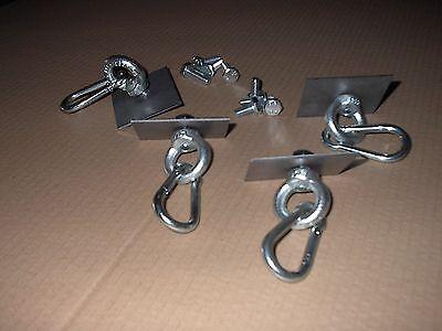 Ladungssicherung Spannring Gegenplatten Zurrpunkt SpanngurtringRing  24TeileNr36