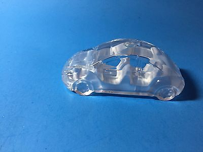 Clear Crystal Miniature Race Car Unknown Brand