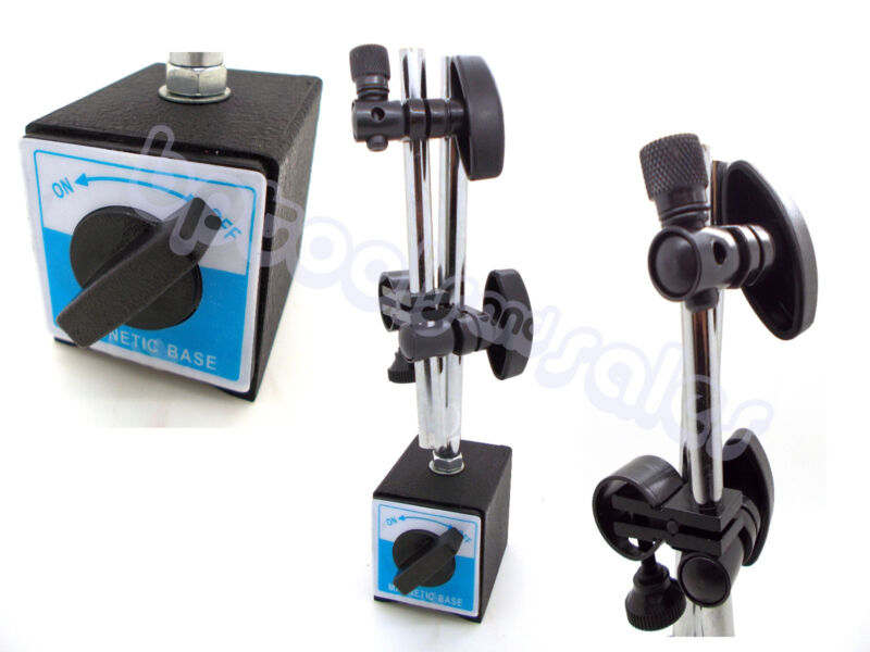 Universal 3D Deluxe MAGNETIC BASE Holder for Dial Test Indicator 132lbs Force