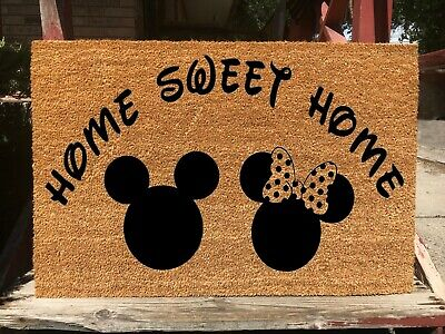 Disney Inspired Welcome Doormat - Home Sweet Home W/ Minnie