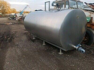 Stainless Steel Bulk Milk Cooling Farm Tank 1000 Gallon. Great Shape