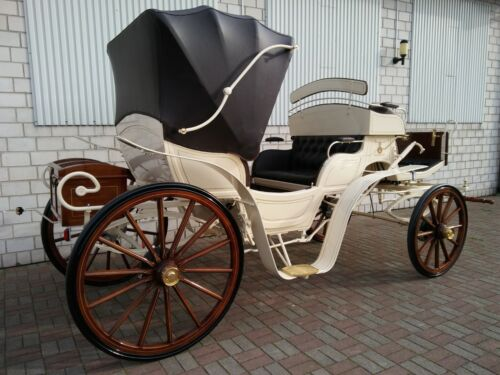 NEW CARRIAGE / HORSE CARRIAGE / CARRIAGES VIS-A-VIS with one roof! Best Quality!