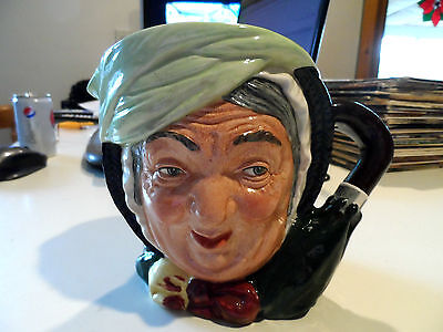 "6 1/4""Royal Doulton-Sairey Gamp Toby Jug/Pitcher -England-Signed Michael Doulton"