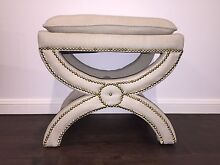 Hamptons linen foot stool ottoman Monterey Rockdale Area Preview