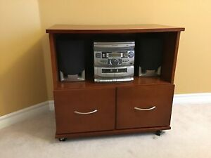 Entertainment Stand with Sharp stereo