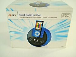 iPods GPX Alarm Clock Radio With Dock For iPod And AM/FM Plays & Charges