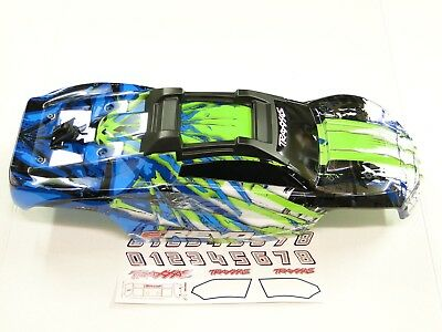 NEW TRAXXAS E-REVO 2.0 VXL 1/10 Body Factory Painted GREEN /White Clipless RRE6G ()