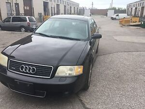 2004 Audi A6 Quattro with low KM safetied & tested!