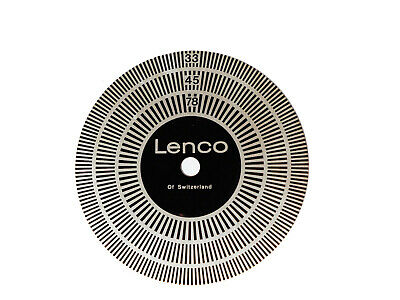 LENCO strobe vintage original swiss made turntable L78 L75