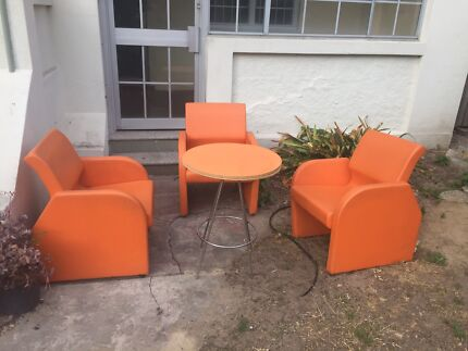 Retro table and 3 chairs