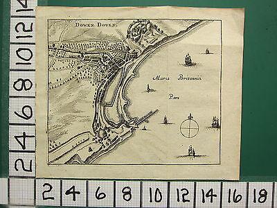 c1790 VICTORIAN MAP ~ DOWER DOUER HARBOUR BRITISH SEA