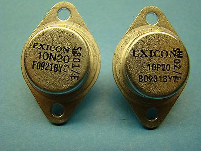 2SK134 2SK135 2SK176 2SJ49 2SJ50 2SJ56  ECF10N20 ECF10P20 EXICON SET
