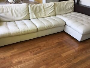 Free super comfy leather couch-perfect for a basement
