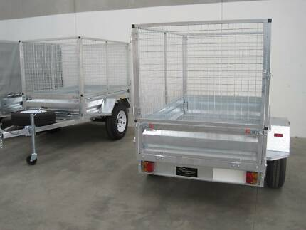 6 X 4 BOX TRAILER WITH CAGE - GALVANISED Melbourne CBD Melbourne City Preview