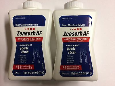 Zeasorb-AF  Antifungal Treatment Powder for Jock Itch 2.5 oz  (Two Bottles)