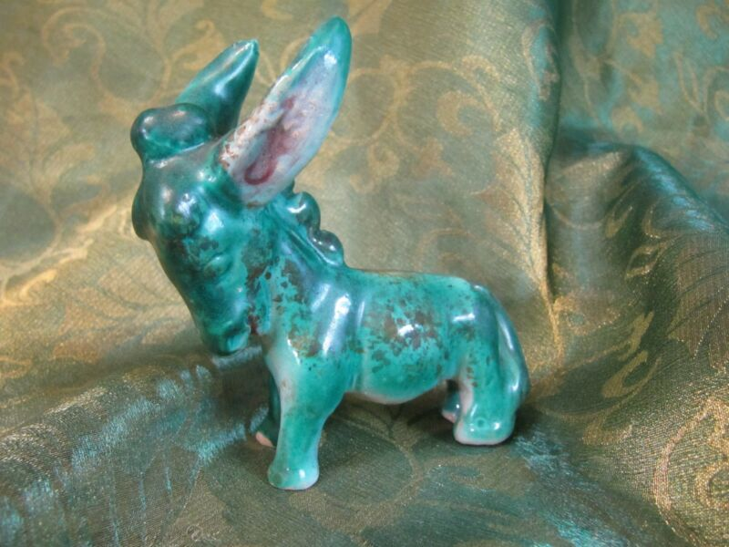Vintage Majolica Donkey/Burro Crafted in Italy