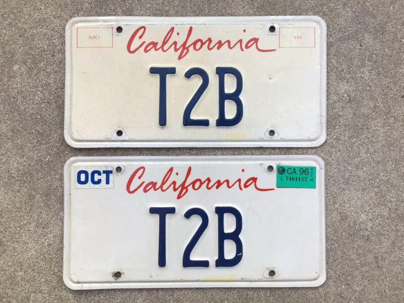 ( 2 ) - MATCHING PAIR - CALIFORNIA - VANITY - LICENSE PLATES