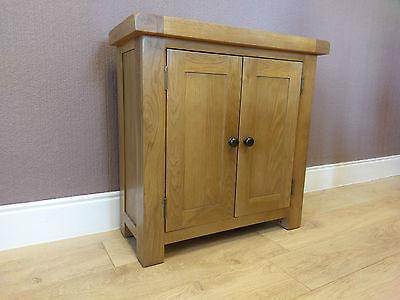 Kingsford Solid Oak Small 2 Door Cupboard / Cabinet 75cm 32cm 75cm
