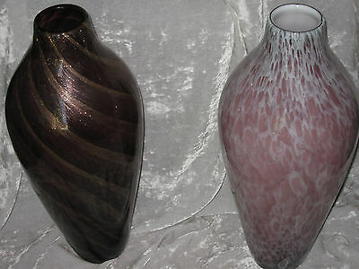 Tall Decorative Hand Blown Glass Vase Fresh Dried Flowers Floor Table NEW!