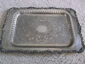 Antique Silver Plate Tray Oneida